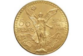 50 Pesos Messico Oro