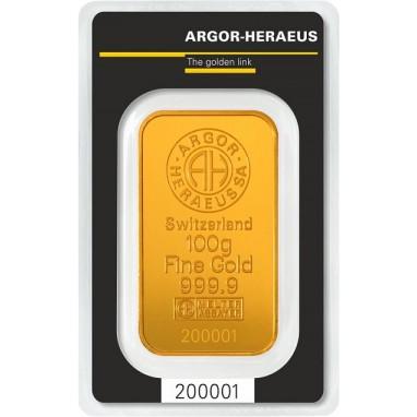 Lingotto Oro Puro 100 grammi
