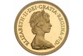 Sterlina Oro Elisabetta II  Coroncina